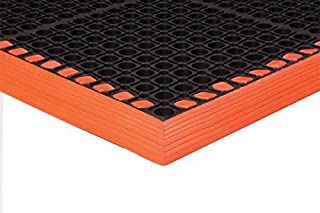 "product image for APACHE MILLS - 7/8"" Safety TruTread (3-Sided) Black/Orange 3' x 5' Anti-Fatigue Matting"