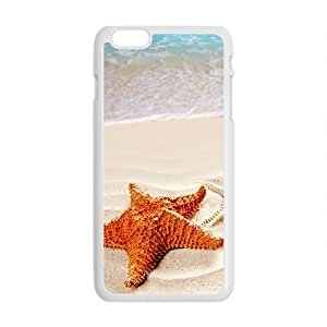 Lonely Starfish On Beach White Phone Case for Iphone6 plus