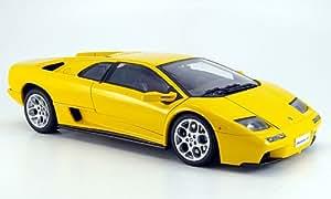 Lamborghini Diablo 6.0, amarillo, Modelo de Auto, modello completo, AutoArt 1:18