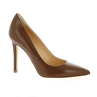 Essedonna Escarpins cuir Cognac - Chaussures Escarpins Femme