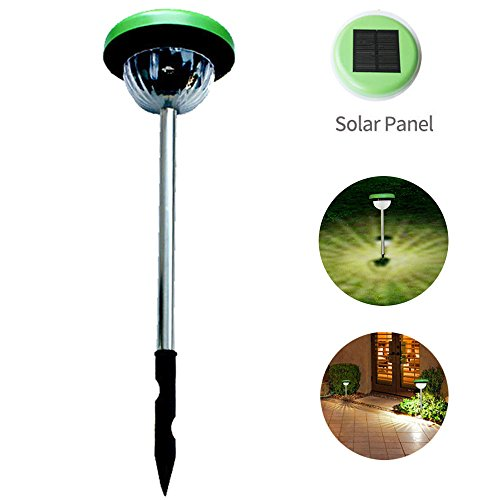 Solar Light Plug in The Ground Outdoor Led Human Body Induction Landscape Garden Lawn Light (Warm Color) by CLDGF