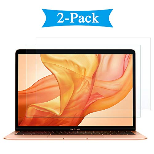 - 2 Pack Mac 13 inch Screen Protector Compatible with Apple MacBook Air 13 (2017/2016 / 2015/2014-2009) Laptop Air13 Book Bookair AirBook 2-7 th Protective Glass Film
