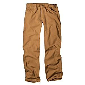 Dickies Men's Relaxed Fit Straight-Leg Duck Carpenter Jean With Tool Pockets