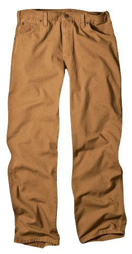 Jeans Straight Dickies Leg - Dickies Men's Relaxed Fit Jean, Brown Duck, 34x36