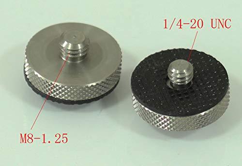 FidgetGear Metallo conversione Adattatore Vite M8/ /1.25/Maschio a Maschio 1//4/per treppiedi Fotocamera