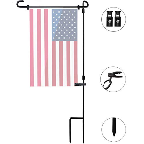 Garden Flag Stand Pole Holder with Yard Flag Stopper and Ant