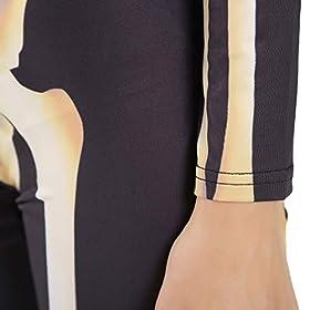 skeleton catsuit - 41nqL JhlTL - Quesera Women's Halloween Costume Skeleton Zip Up Skinny Catsuit Stretch Jumpsuit