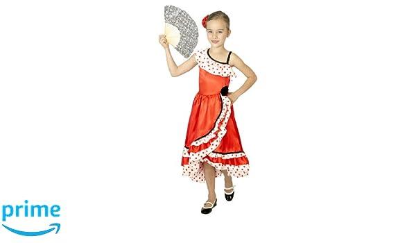 César - Disfraz de sevillana para niña, talla 5-7 años (F231 ...