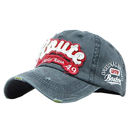 Raute Denim Hat Cap Adjustable Female Stretch Cotton Baseball Hats Embroidered Men Vintage Washed Sun Visor Hat