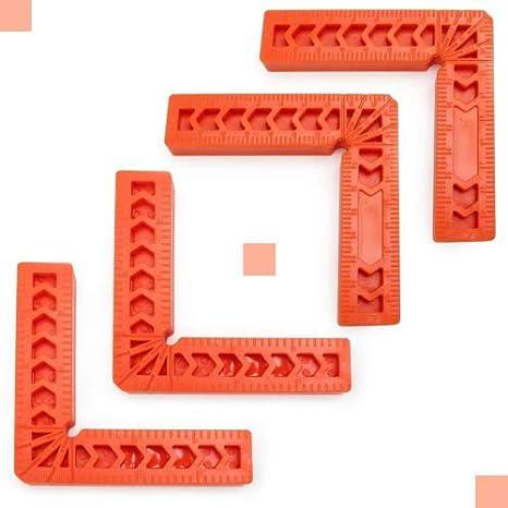 Gaosheng Lot de 4 /équerres de positionnement angle droit outils de menuiserie pour cadres armoires ou tiroirs bo/îtes outils de menuiserie outils de menuiserie
