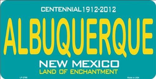 ALBUQUERQUE New Mexico State Background License Plate Aluminum Metal Sign 6 X - Albuquerque Stores