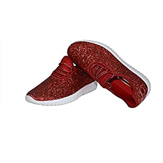 Roxy Rose Kids/Chidren Fashion Jogger Sneaker - Lightweight, Red, Size 12.0