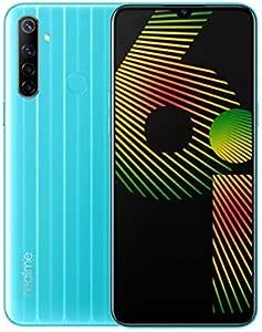 "Realme 6i (64GB, 3GB) 6.5"" HD+ Display, 5000mAh Battery, Helio G80, Dual SIM GSM Unlocked Global 4G LTE (T-Mobile, AT&T, Metro, Straight Talk) International Model RMX2040 (64GB SD Bundle, Jelly Blue)"