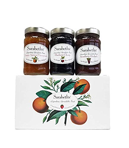 (Sarabeth's Legendary Spreadable Fruit - 3 Jar Gift Pack - Orange-Apricot, Blueberry Cherry and Strawberry Rhubarb)
