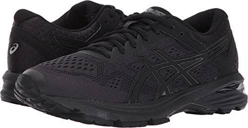 ASICS Womens GT-1000 6 Running Shoe, Black/Silver, 8.5 Medium US