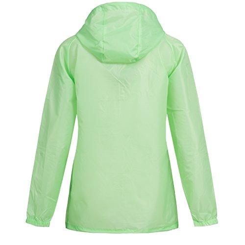 Geographical Norway - Abrigo impermeable - Blusa - para mujer verde claro