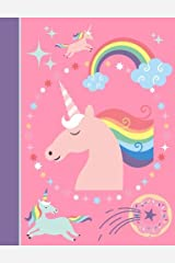 Composition Notebook: Unicorn Pink College Ruled Lined Pages Book (7.44 x 9.69) Paperback