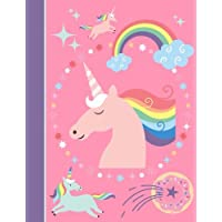 Composition Notebook: Unicorn Pink College Ruled Lined Pages Book (7.44 x 9.69)