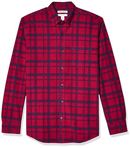 Amazon Essentials Mens Regular-Fit Long-Sleeve Pocket Oxford Shirt