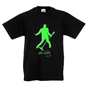 T Shirts For kidsI Love You Elvis - Fan Outfits, Concert Clothing (7-8 Years Black Green)