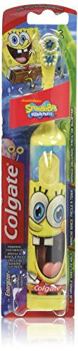 Colgate Kids Sponge Bob Powered Toothbrush, Extra Soft Bristles, Colors and Styles May Vary, (Pack of 2)