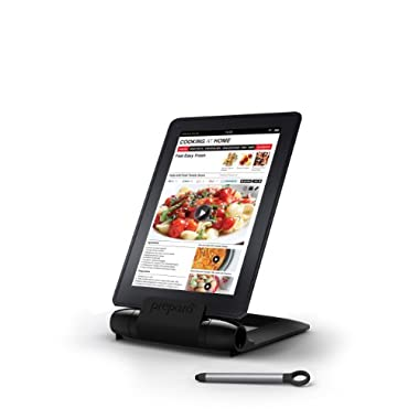 Prepara iPrep Foldable/Adjustable e-reader, phone and tablet stand for iPads, iPad Air, iPad mini, iPhone, Surface, Kindle Fire, Nook, Samsung, Black