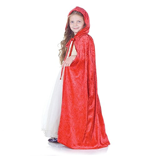 Panne Velvet Child Cape (Red)