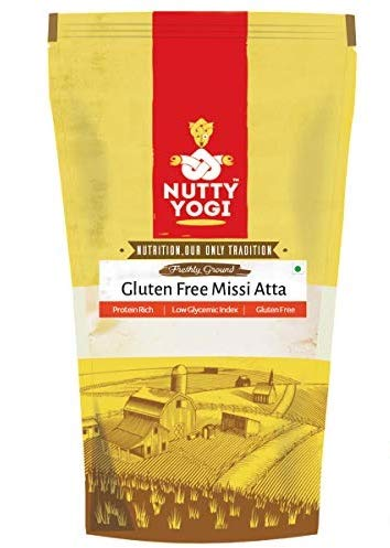 Nutty Yogi Gluten Free Multigrain Missi Atta - 500 GMS (Pack of 2) I Healthy I Traditional I Gluten Free (B07MCHG2Q9) Amazon Price History, Amazon Price Tracker