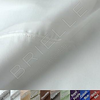 Brielle 630 Thread Count Egyptian Cotton Sateen Premium 600 Plus Pillow Case Set, King, White