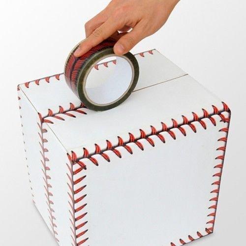 baseball stitches design cellophane