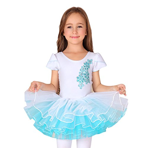 Gift Idea! Size 4-8 Girls Short Sleeved Ballet Tutu Dress...