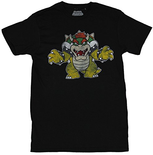 Super Mario Distressed Bowser T shirt