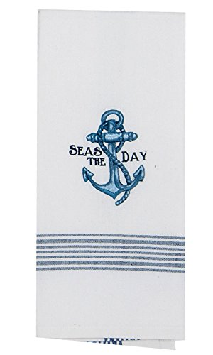 Kay Dee Designs F0732 Seas The Day Anchor Embroidered Tea Towel
