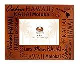 Hawaiian Islands Wood Picture Frame 4'' X 6''
