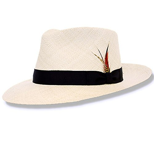 DelMonico Kevin Panama Hat-Bleach-XXL