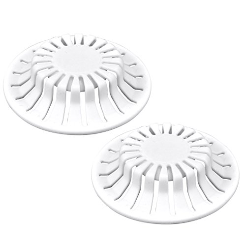 DANCO Universal Bathroom Sink Suction Cup Hair Catcher Strainer, White, 2-Pack (10769) - Bathroom Sink Drain Plumbing