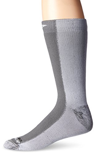 Drymax Cold Weather Run Crew Socks, Grey, Medium (W7.5-9.5 / M6-8)