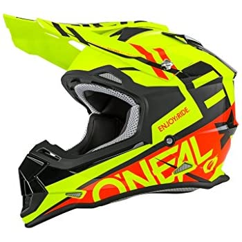 O'Neal 5 SRS Mens Off-Road Blocker Helmet (White/Grey/Red, Medium)