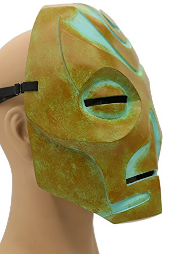 Skyrim Mask Elder Dragon Scrolls Green Resin Mask Game Cosplay Props XCOSER