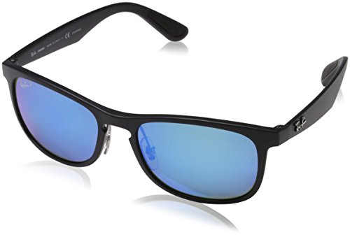 Ray Sunglasses Square Iridium Matte Mens Injected 55 Man mm Ban Black Polarized OXr0qOY