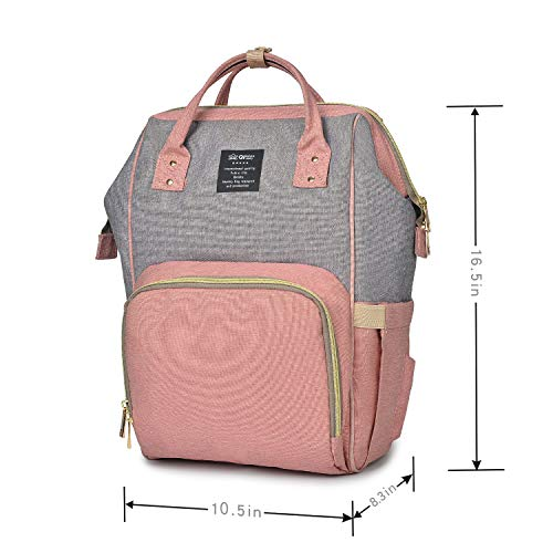24337a685f Qimiaobaby Diaper Bag Nappy Bag Travel Backpack Waterproof Multi-Function  Mommy Bag for Baby Care