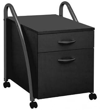 Rollcontainer Schwarz büro rollcontainer schwarz amazon de küche haushalt