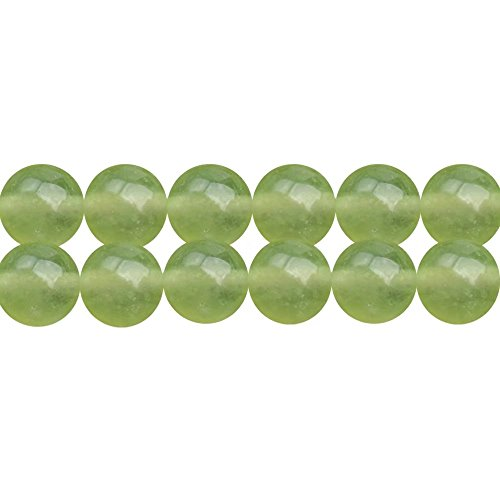 6 Mm Light Green (DIY Fashion Necklace Bracelet Earrings Handmade Jewelry Beading Beads Material Supply Full Strand 15 Inch 6mm Light Green Chalcedony Stone Loose Beads Apx 60 Pcs)