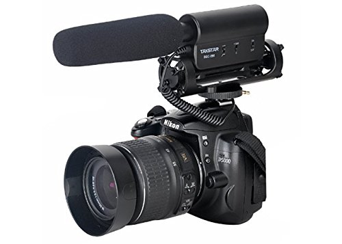 TAKSTAR SGC-598 Photography Interview Microphone for Canon Nikon Camera DLSR Camera DV Camcorder + MicroFiber Clean Cloth