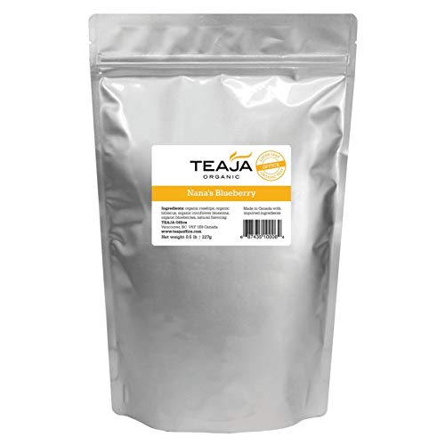 Teaja Organic Loose-Leaf Tea, Nana's Blueberry Decaf, 8 Oz - Leaf Bags Blueberry Tea