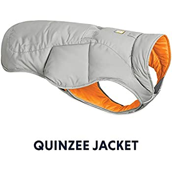 RUFFWEAR - Quinzee Insulated, Water Resistant Jacket for Dogs with Stuff Sack, Cloudburst Gray, Medium