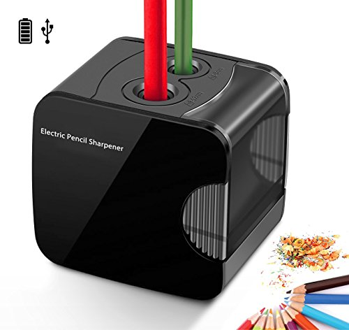 Electric Pencil Sharpener, Powered By USB or Battery Operated Heavy Duty...