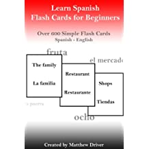 Learn Spanish - Flash Cards for Beginners (French Edition)