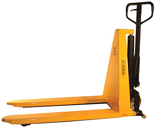 Wesco Industrial Products 272976 Manual High Lift Telescoping Pallet Truck with Loop Handle, 3,300-lb. Load Capacity, 27