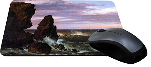 Rikki Knight Frederick Edwin Church Art Coastal Scene Design Lightning (3294 Series)